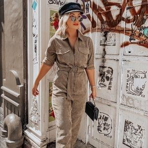 Windsor Chic Corduroy Babe Jumpsuit